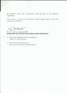 Appreciation Letter from Ethics and Integrity 2